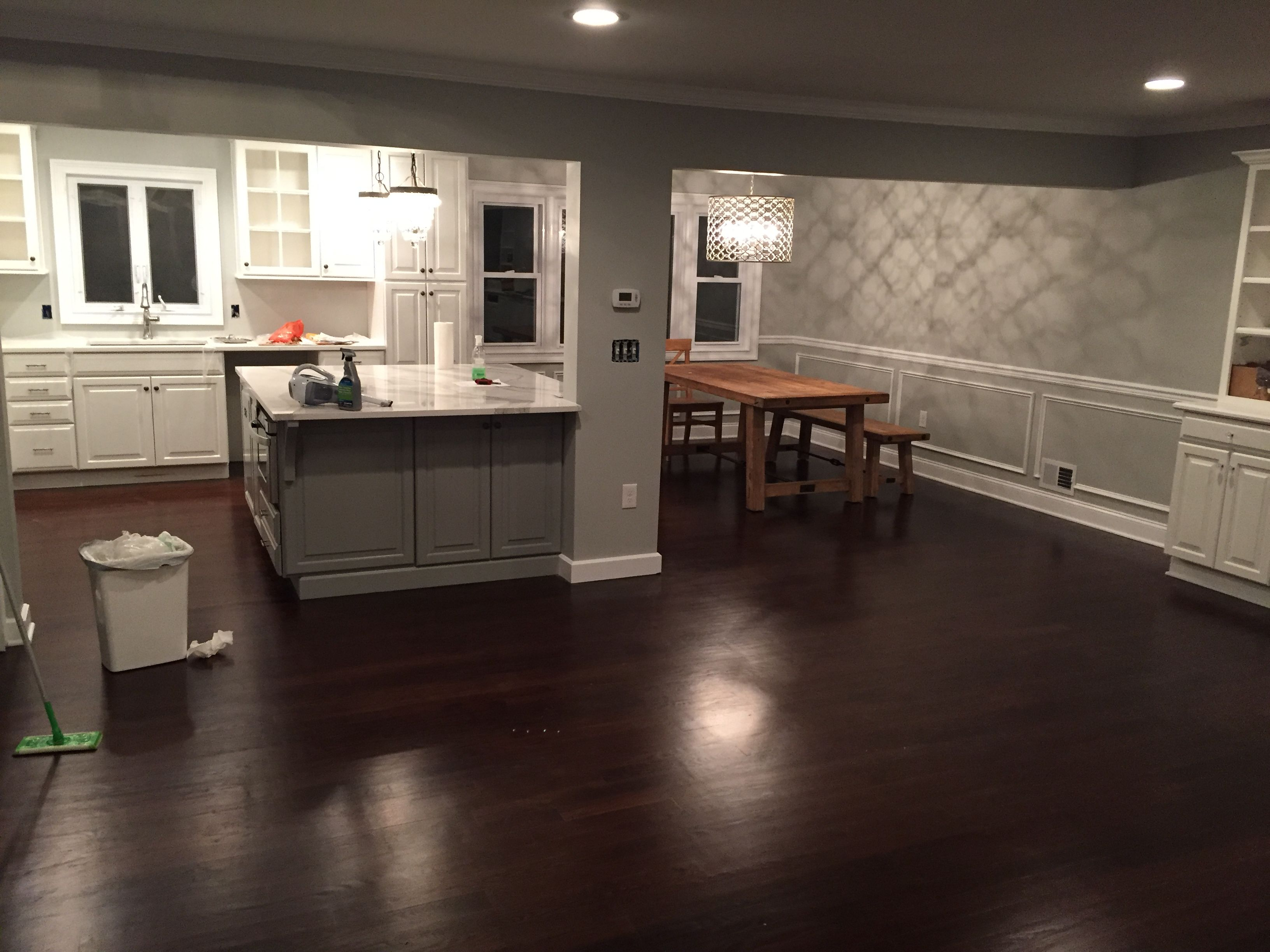 Split level kitchen renovation big island for the home