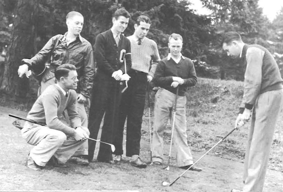 1939 UO golf team. From the 1939 Oregana (University of