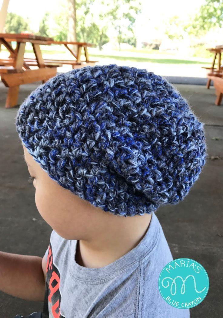 Trevor Slouchy Beanie Crochet Pattern | Pinterest | Stricken