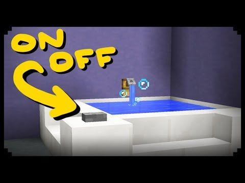 Minecraft How To Make A Working Bathtub