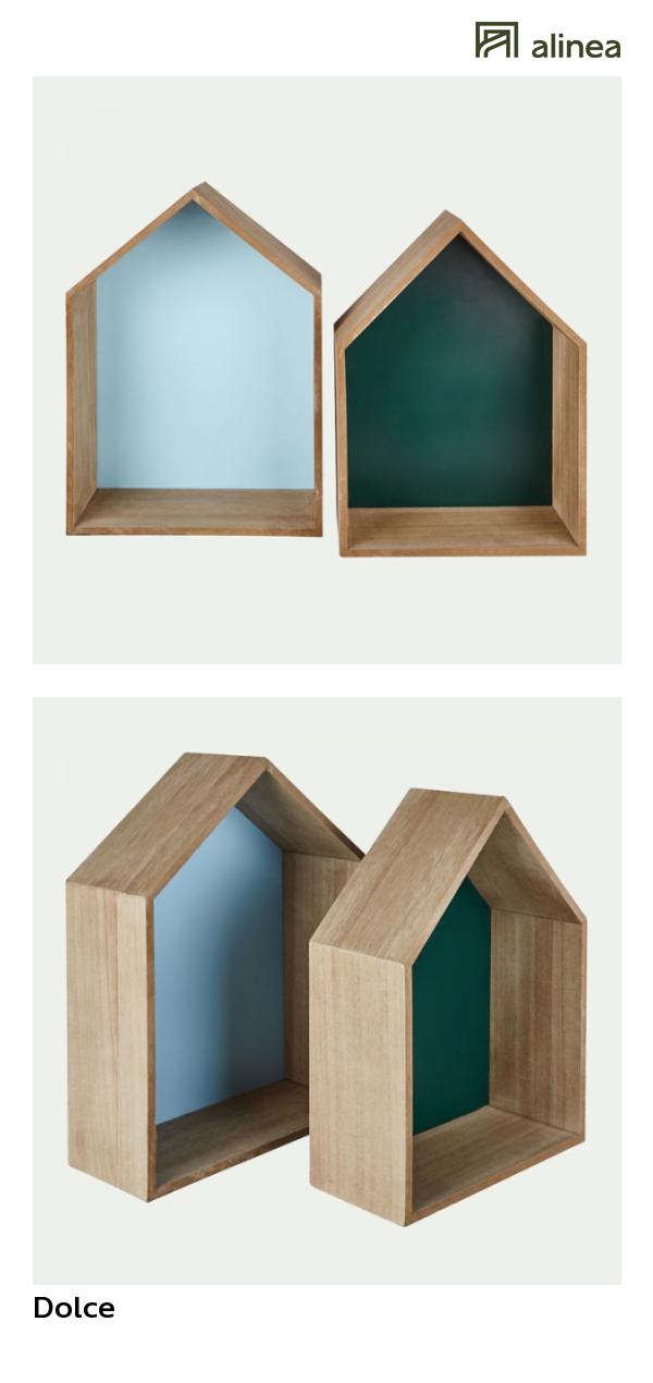Alinea Dolce Ensemble De 2 Etageres Forme Maison H40cm Les
