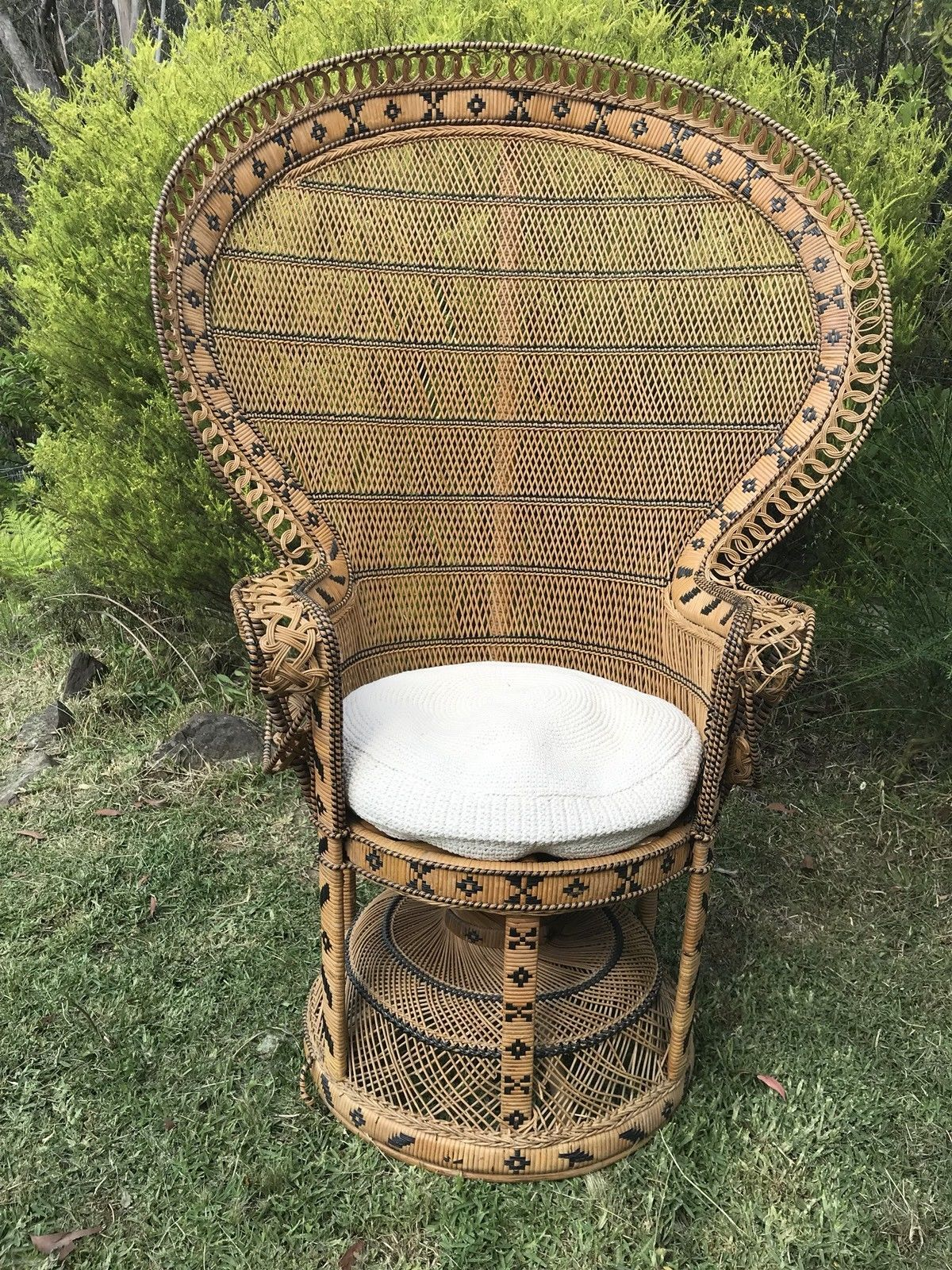 Vintage peacock chair ebay