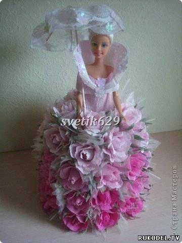 Кукла и конфеты своими руками 49