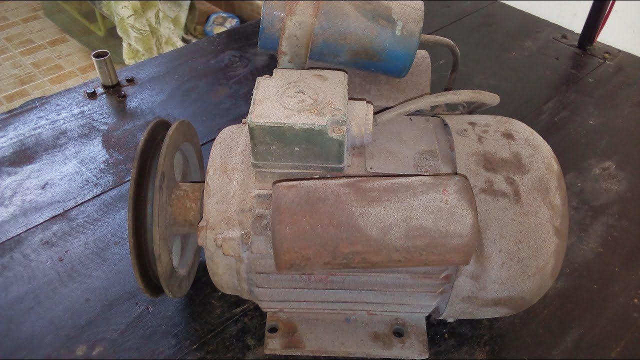 Air Compressor Motor Restoration Squirrelcage rotor