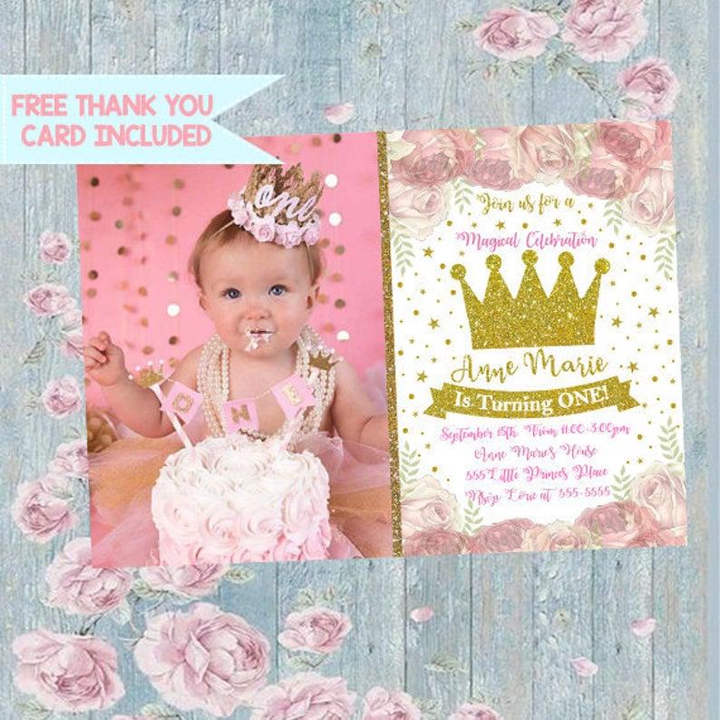 Princess Invitation, Princess Crown Invitation, Princess