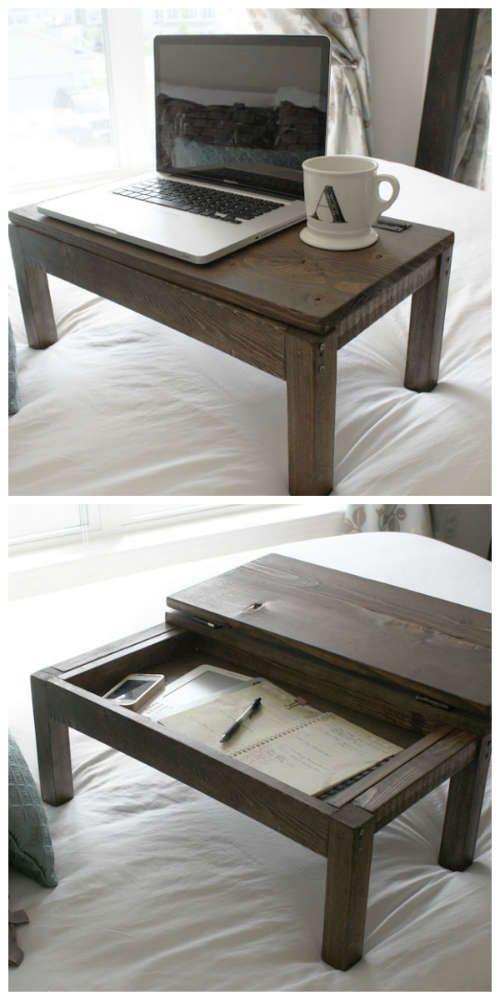 Diy Lap Desk With Built In Storage Diy Woodworking Woodworking Projects Diy Woodworking Projects Plans