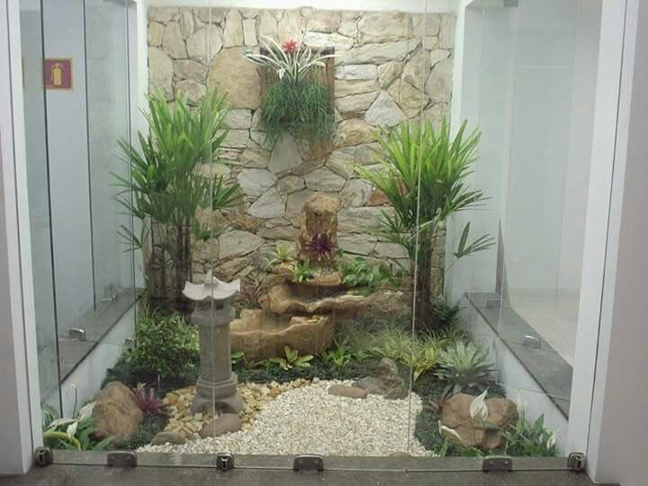 Jardines interiores decoraci n de jardines pinterest for Decoracion de jardines interiores