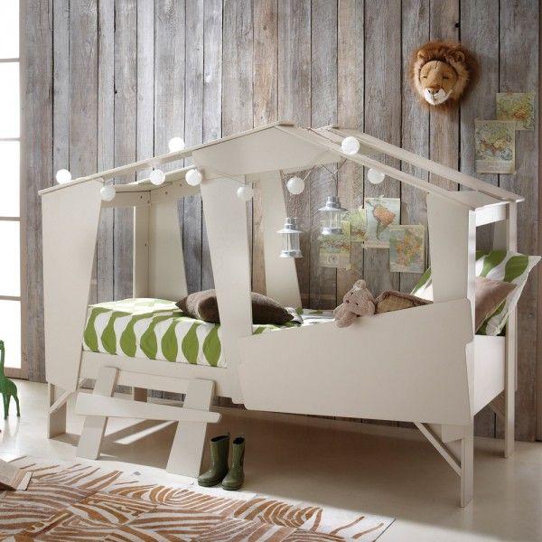 Una original cama-cabaña para niños Habitaciones infantiles y - camas para nios