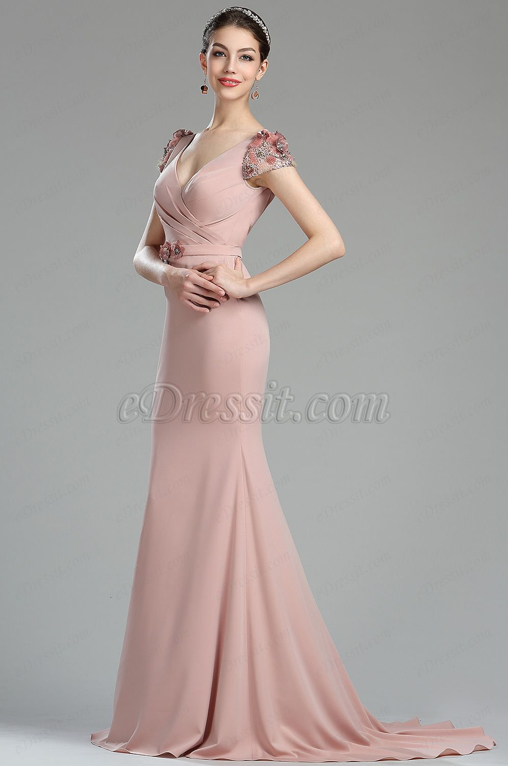 c6267610 Looking for low price but high quality eDressit Capped Sleeves Beaded Floral  Mermaid Women Dress (00174046)? eDressit.com can custom-made for you!