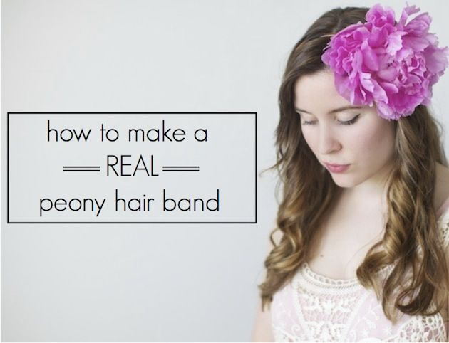 How To Make A Peony Headband: A Floral DIY Tutorial | Bridal Musings
