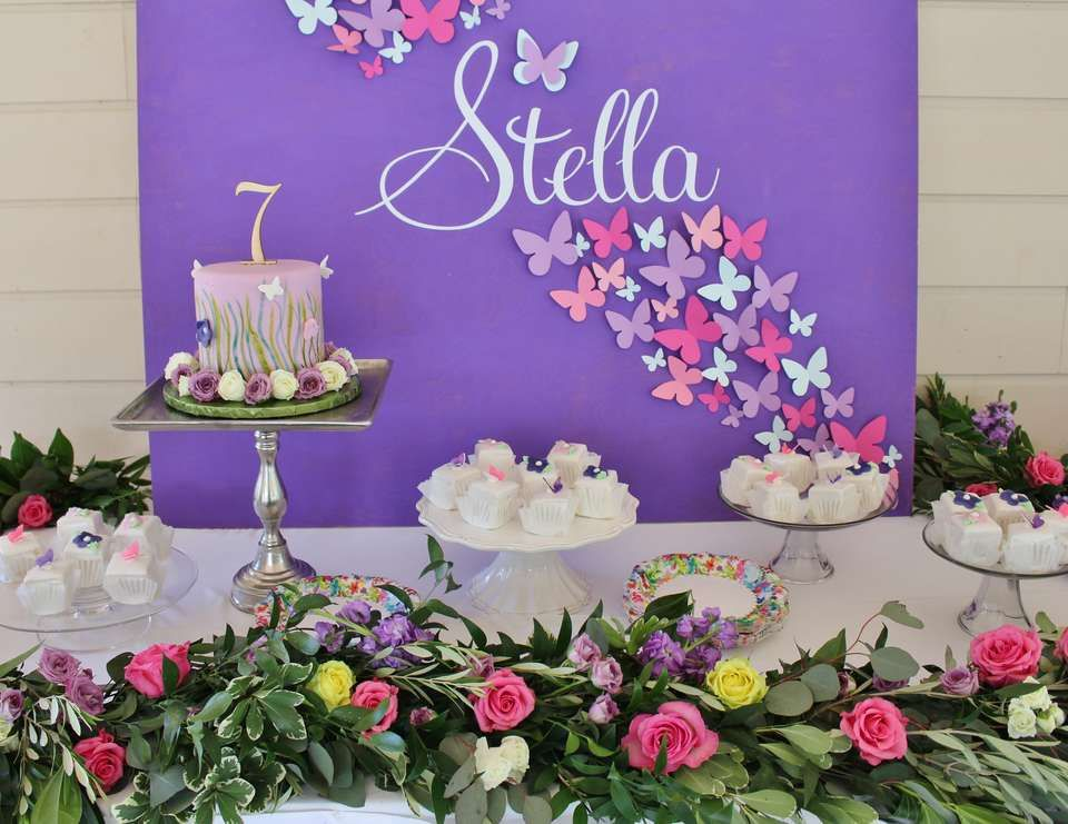 "Butterflies / Birthday "" Stella's Beautiful Butterfly Birthday Party!!"" 