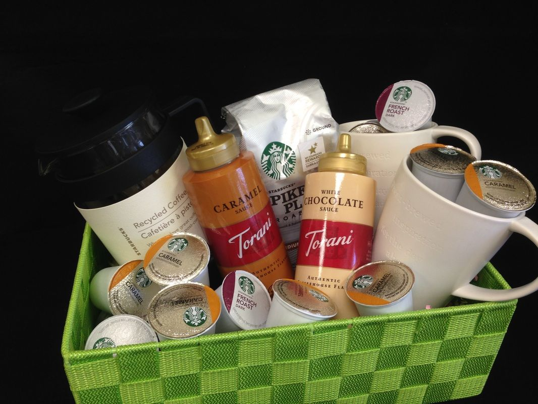 Diy keurig coffee lovers gift basket gift ideas for What kind of presents do guys like