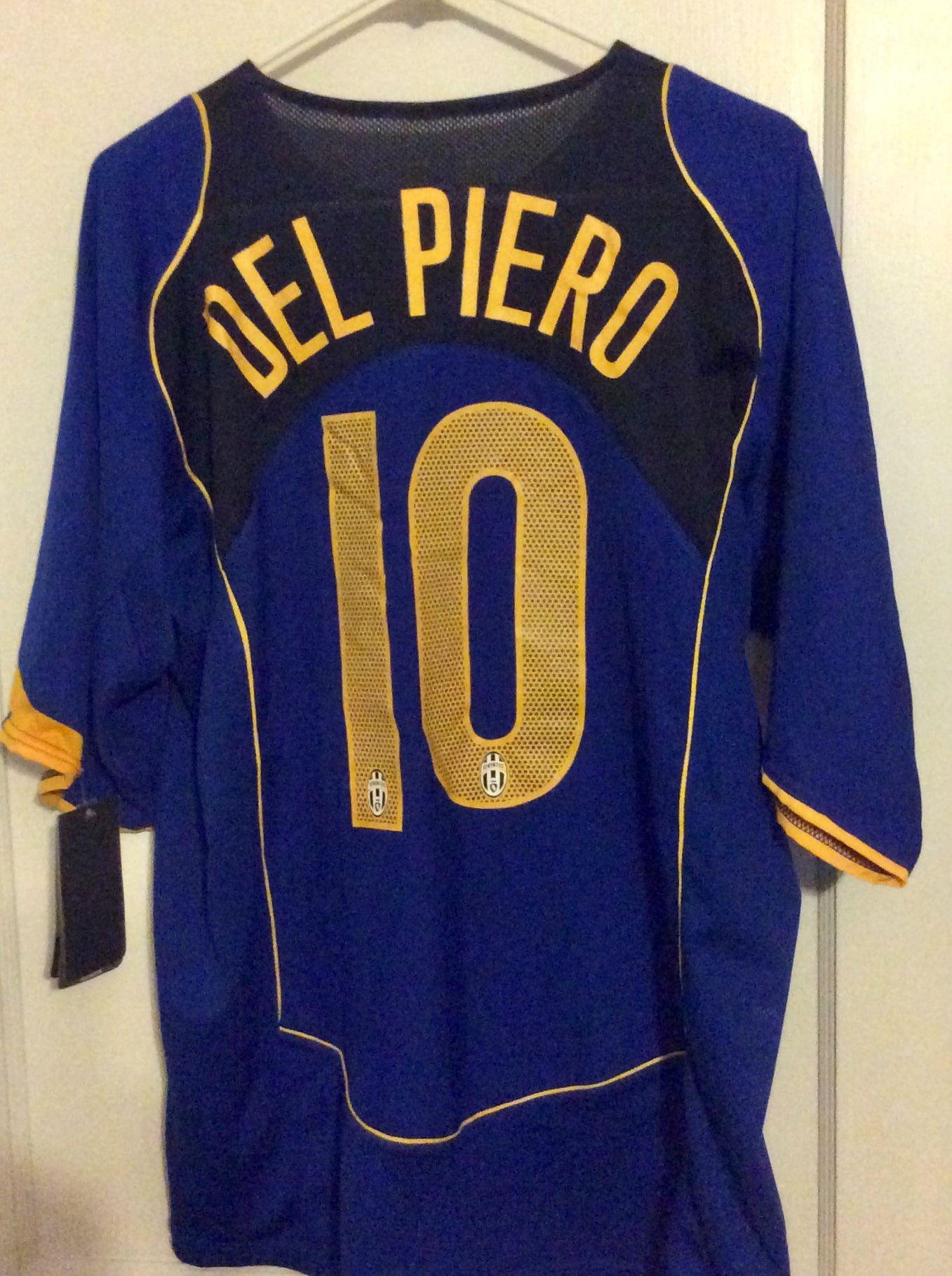 buy online f68fa 69f8a Alessandro Del Piero Juventus Away 2004-2005 | Soccer ...