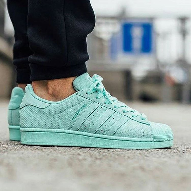 Adidas Superstar Pastel Green