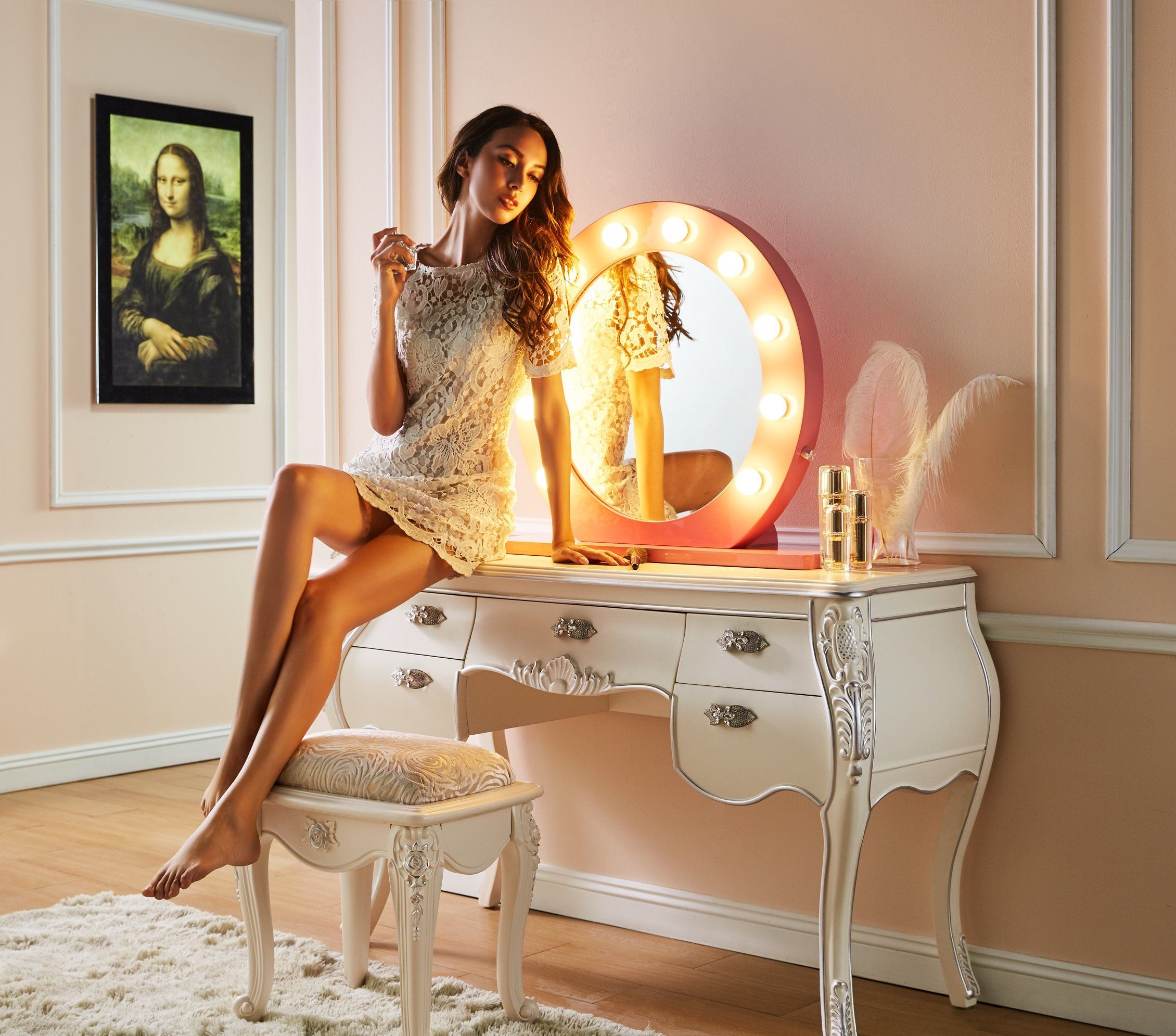 Dimmable Hollywood Mirror 28 in Hollywood mirror