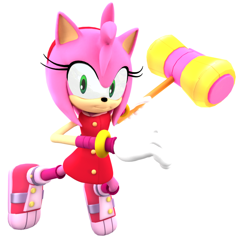 Sonic Boom New Amy Render By Nibrocrock On Deviantart Sonic Sonic Boom Sonic Boom Amy