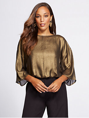 a7898c1a26c Make a shimmering statement in Gabrielle s dolman blouse