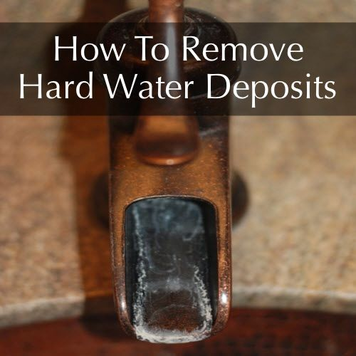 How To Remove Hard Water Stains From Bathroom Fixtures: How To Remove Hard Water Deposit --You Know Those Annoying