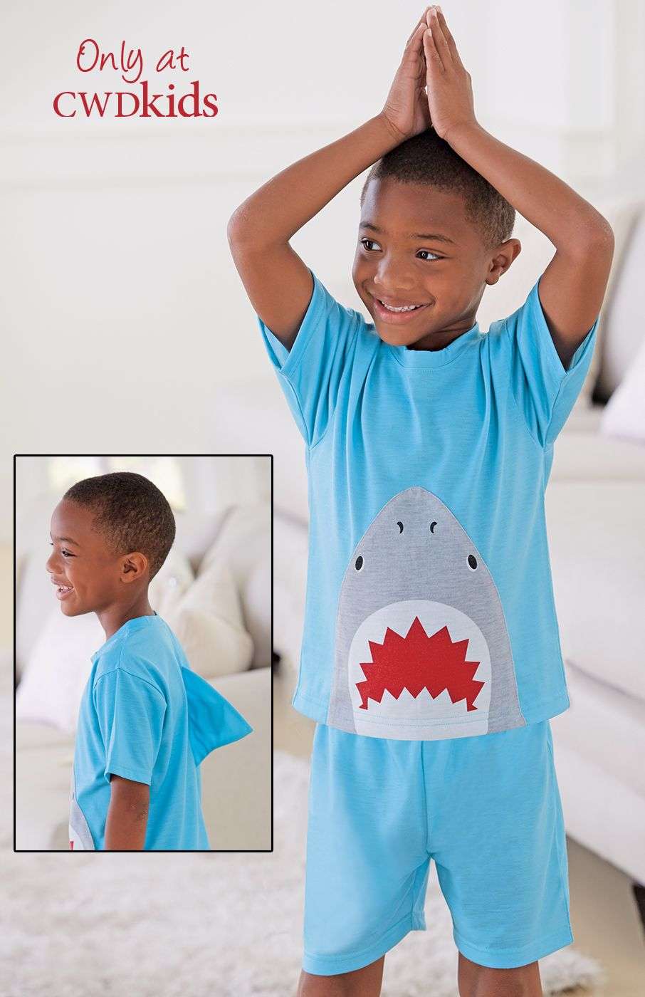 ad8530287d84 From CWDkids  Shark Fin Pajamas