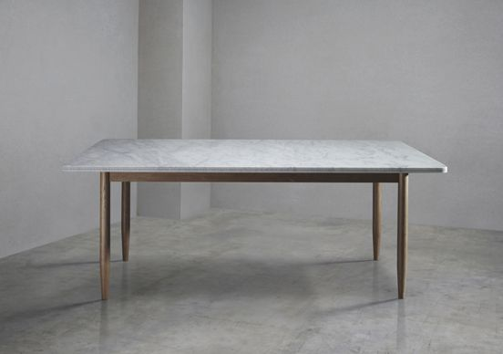 Bethan Gray Brogue Dining Table In Italian Carrara Marble Main