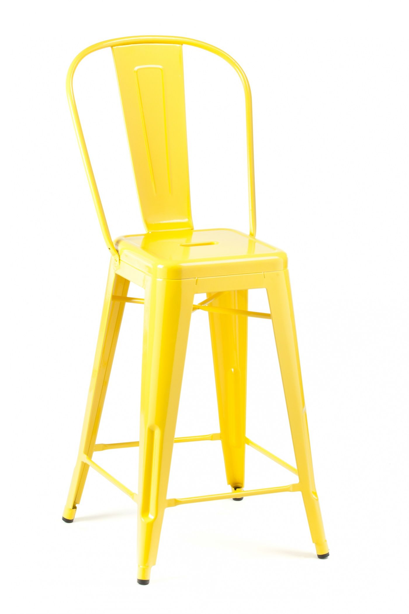 High Back Stools High Back Stool Yellow Industry West Furniture