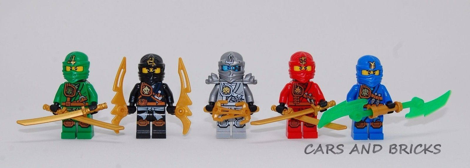 Details About Lego Ninjago Cole Jay Kai Lloyd Zane Titanium