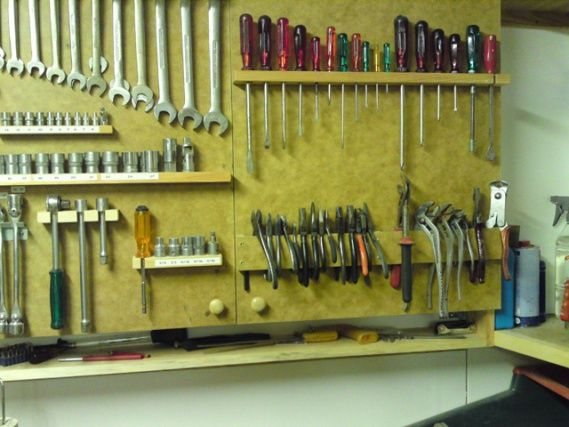 fantastic tool storage for pliers and other workshop tools. Black Bedroom Furniture Sets. Home Design Ideas