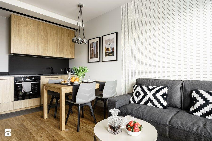 aran acje wn trz kuchnia apartament nowojorski aviator gda sk ma a kuchnia jednorz dowa. Black Bedroom Furniture Sets. Home Design Ideas