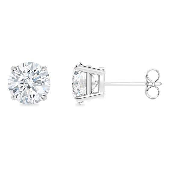 8443119cb 1/5 CT. T.w. Certified Diamond Solitaire Stud Earrings in 18K White Gold  (I/si2)