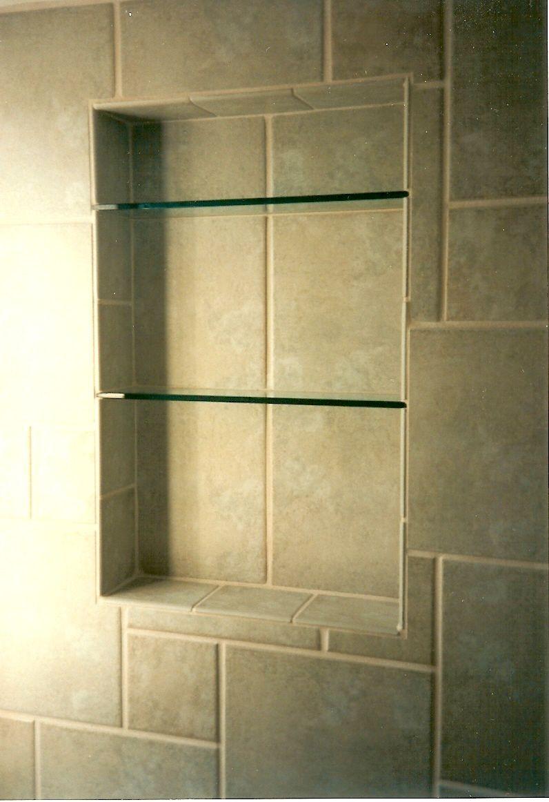 Shower Shelves | Master Bath Ideas | Pinterest | Glass shelves ...