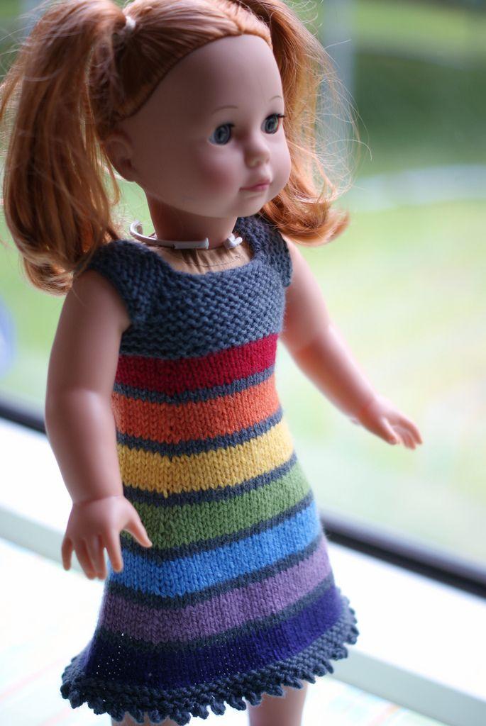 Ravelry: RachaelD\'s Doll\'s Rainbow - Rainbow Dress | American girl ...