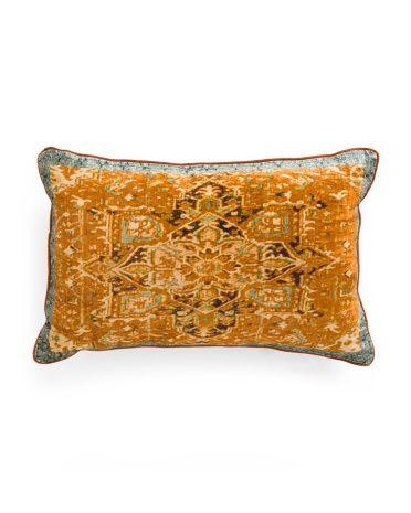 Made In India 40x40 Velvet Vintage Pillow Decorative Pillows New Tj Maxx Decorative Pillows