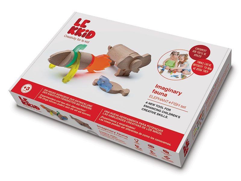 LEKKID Imaginary Fauna Elephant+Fish Set Box #creative #educational #toys