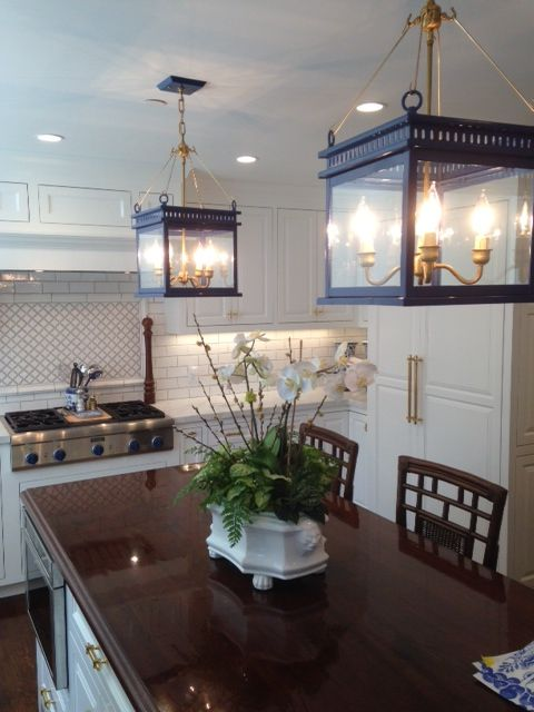 We Just Love These John Street Hanging Lanterns Over This Kitchen - Hanging lanterns for kitchen