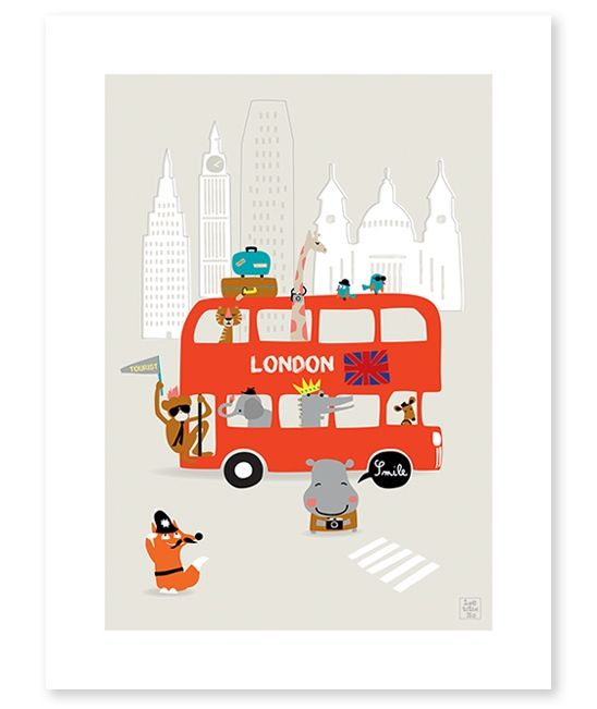 Affiche chambre enfant bus Londres | Kids room ideas | Pinterest ...