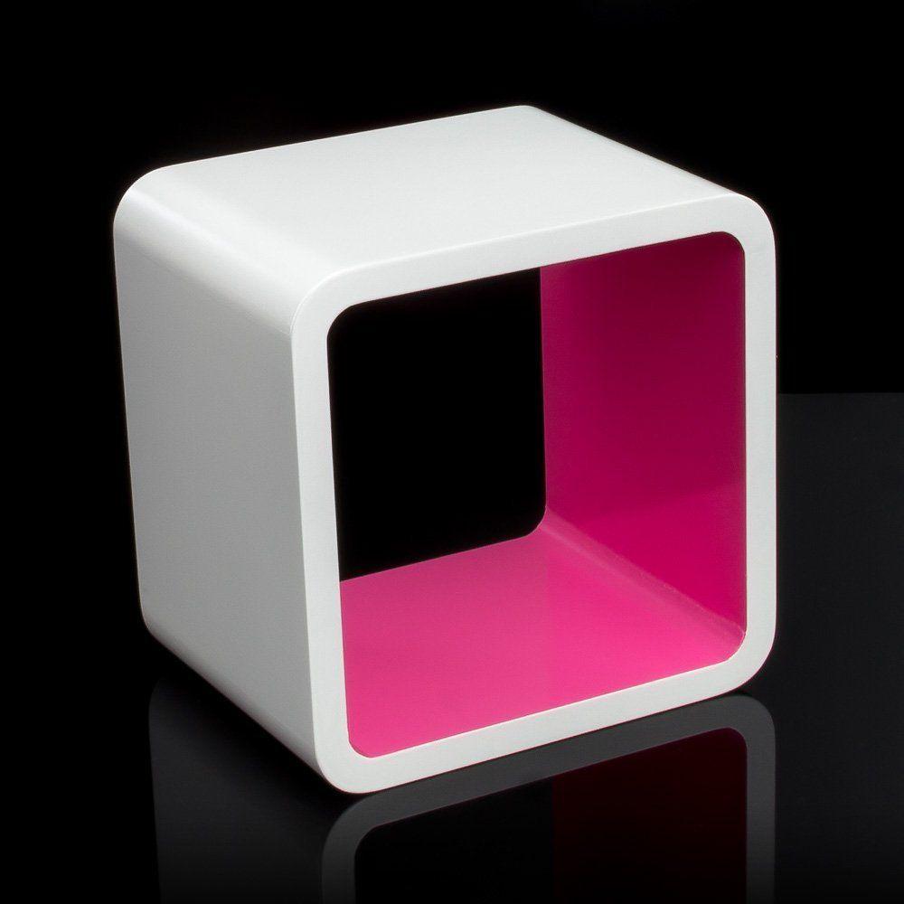 Wandregal design weiß  Homestyle4u Cube Wandregal Regal Bücherregal Hängeregal Retro ...