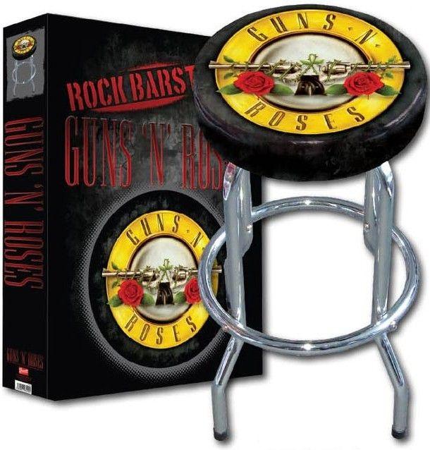 Bar Stool Guns N Roses Music Sooths My Soul