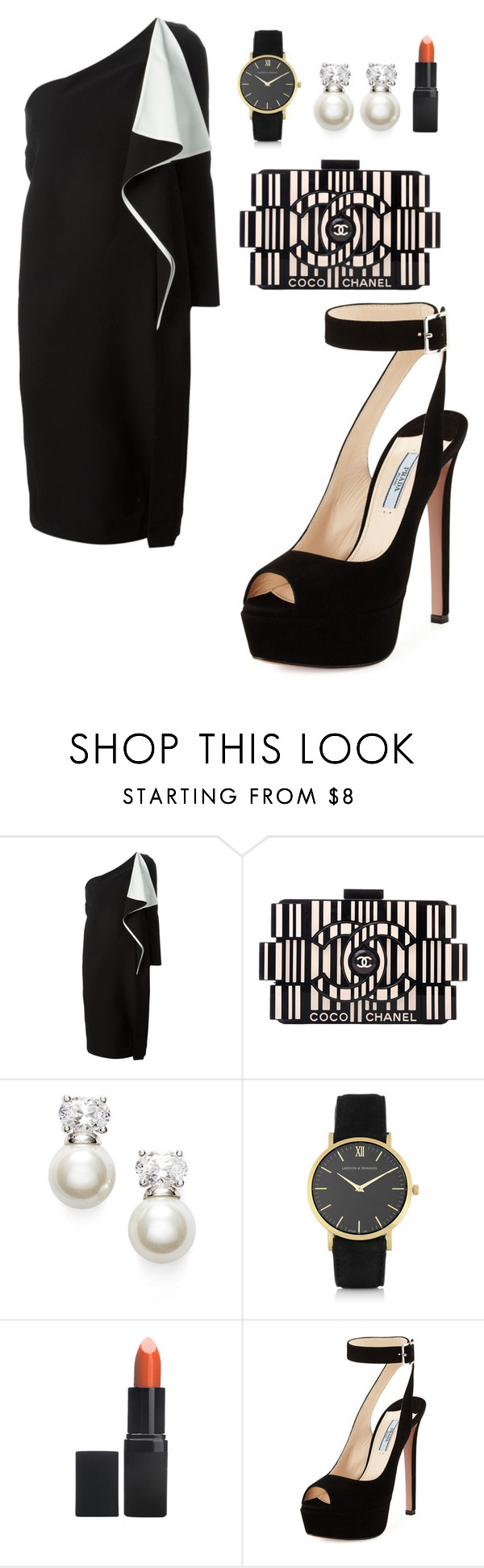 """""""My First Polyvore Outfit"""" by yassyyess ❤ liked on Polyvore featuring Chloé, Chanel, Judith Jack, Larsson & Jennings, Barry M and Prada"""