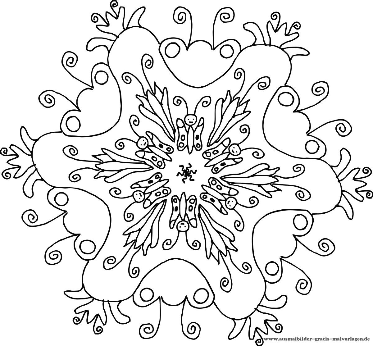 mandalas | Mandalas zum Ausdrucken | kostenlose Mandala für Kids ...