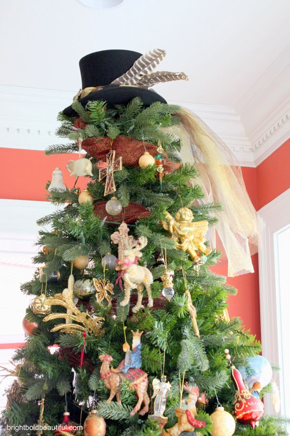 Attractive Christmas Tree Toppers~ Top Hat Anyone?