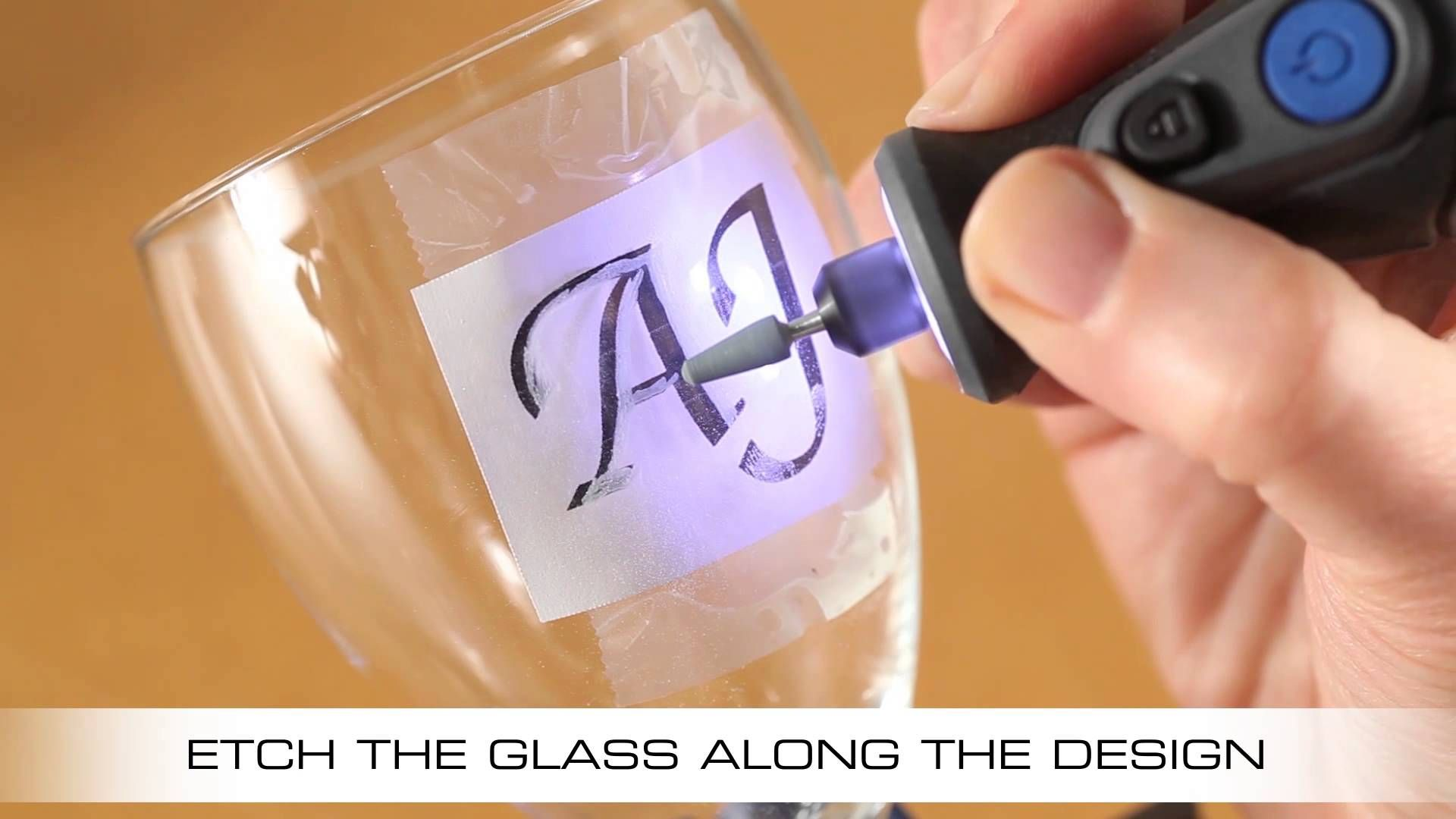 How To Etch A Wine Glass With The Dremel Micro Engraving Glass Diy Glass Etching Diy Dremel Projects