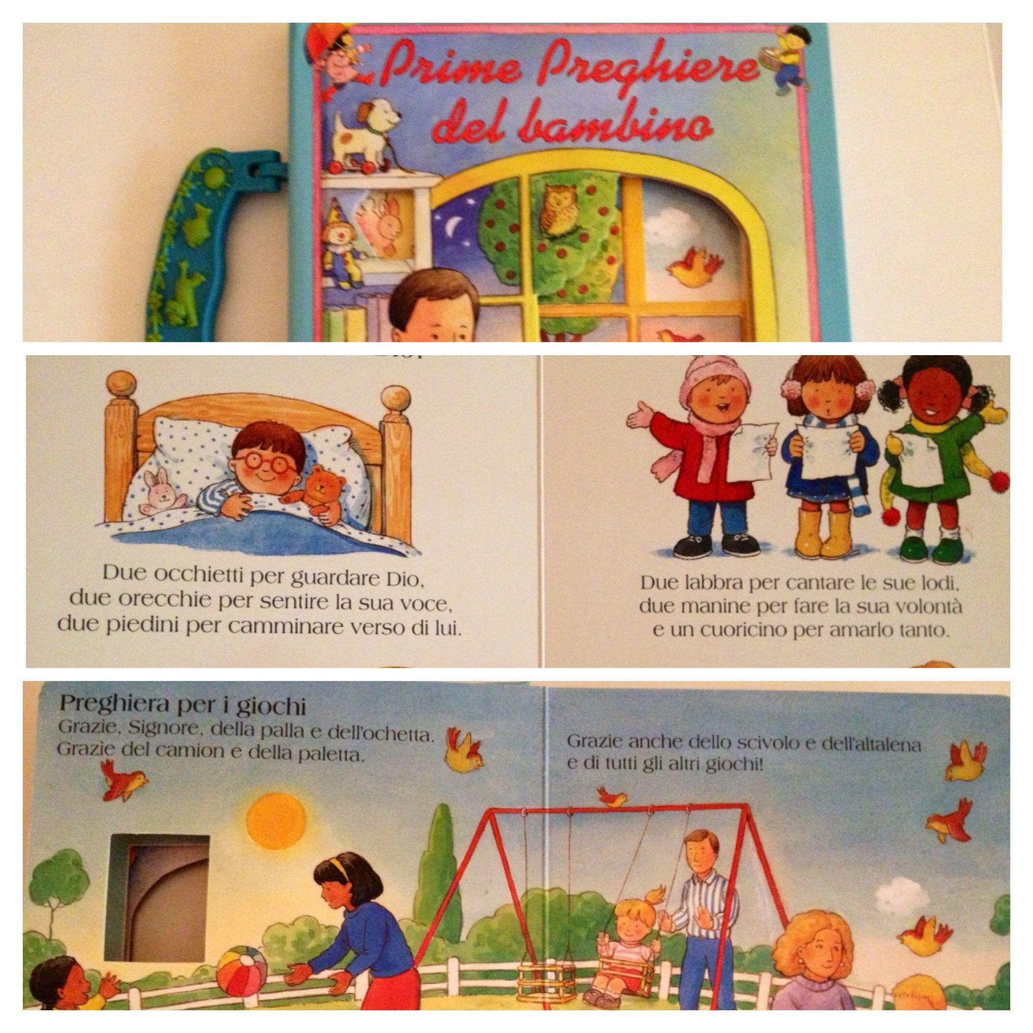 Un libricino delle prime preghiere bimbi piccoli (davvero carino e colorato) www.mammachegioia.it