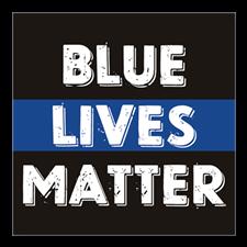BLUE LIVES MATTER DECAL Sticker