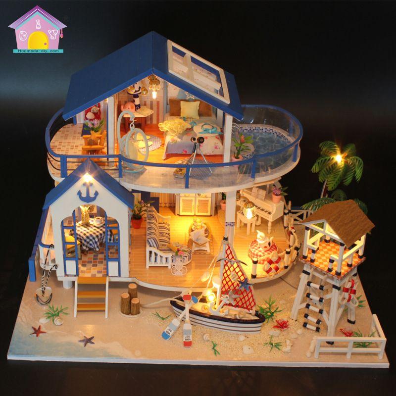 Du0027origine véritable 3d bricolage assembler Océan villa piscine plage - bricolage a la maison