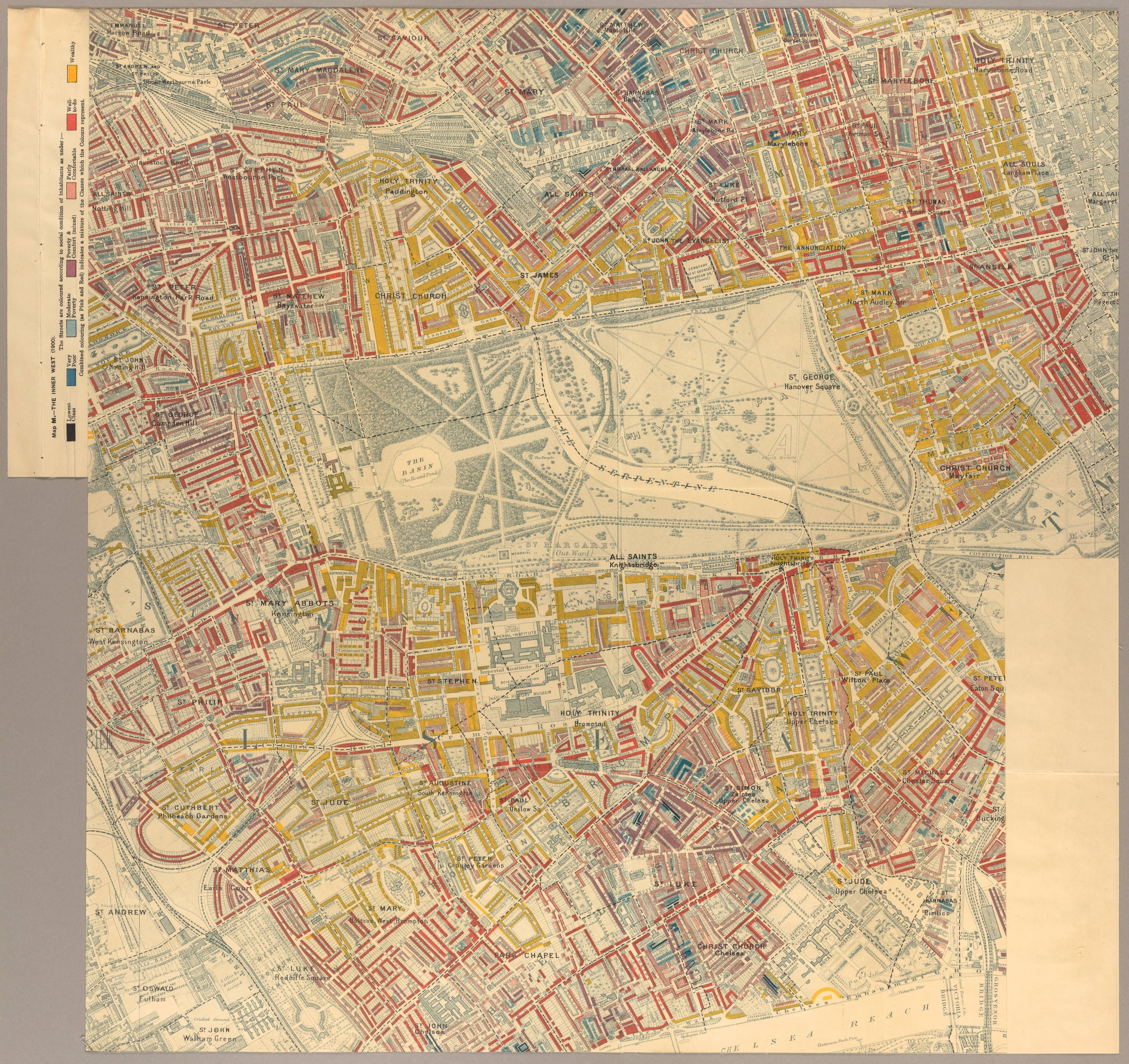 Map Of London 1900.Classes In The Inner West Of London 1900 Map London Demography