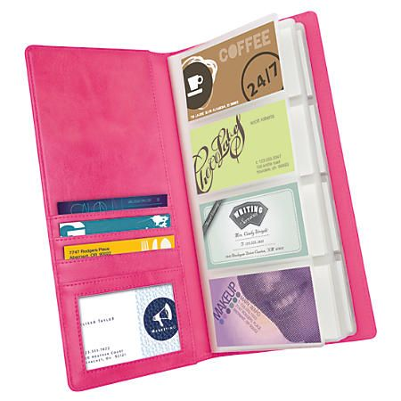 Foray Distressed Business Card Holder 144 Office Depot Trendy