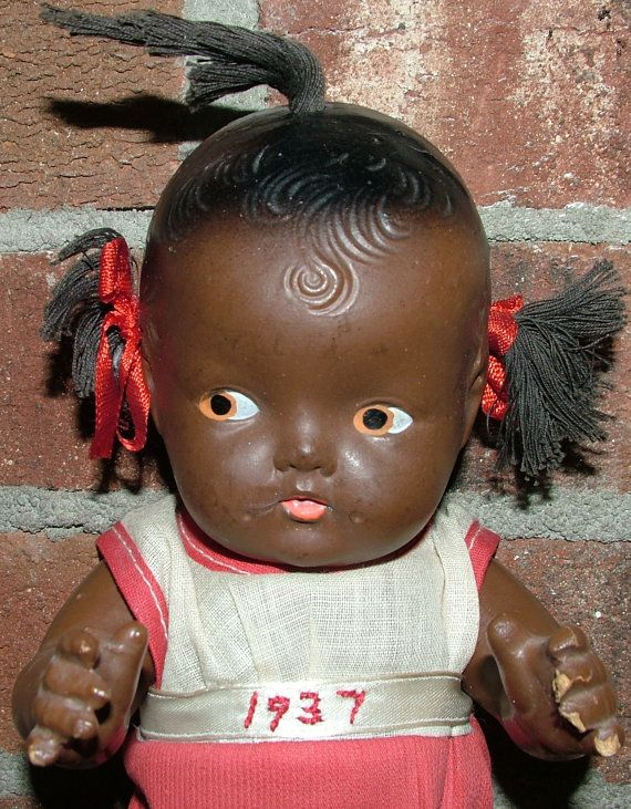 Black Americana Topsy Composite Doll Reliable Toy Company Original Everything And Unaltered 1937 African American Dolls Vintage Dolls Antique Dolls