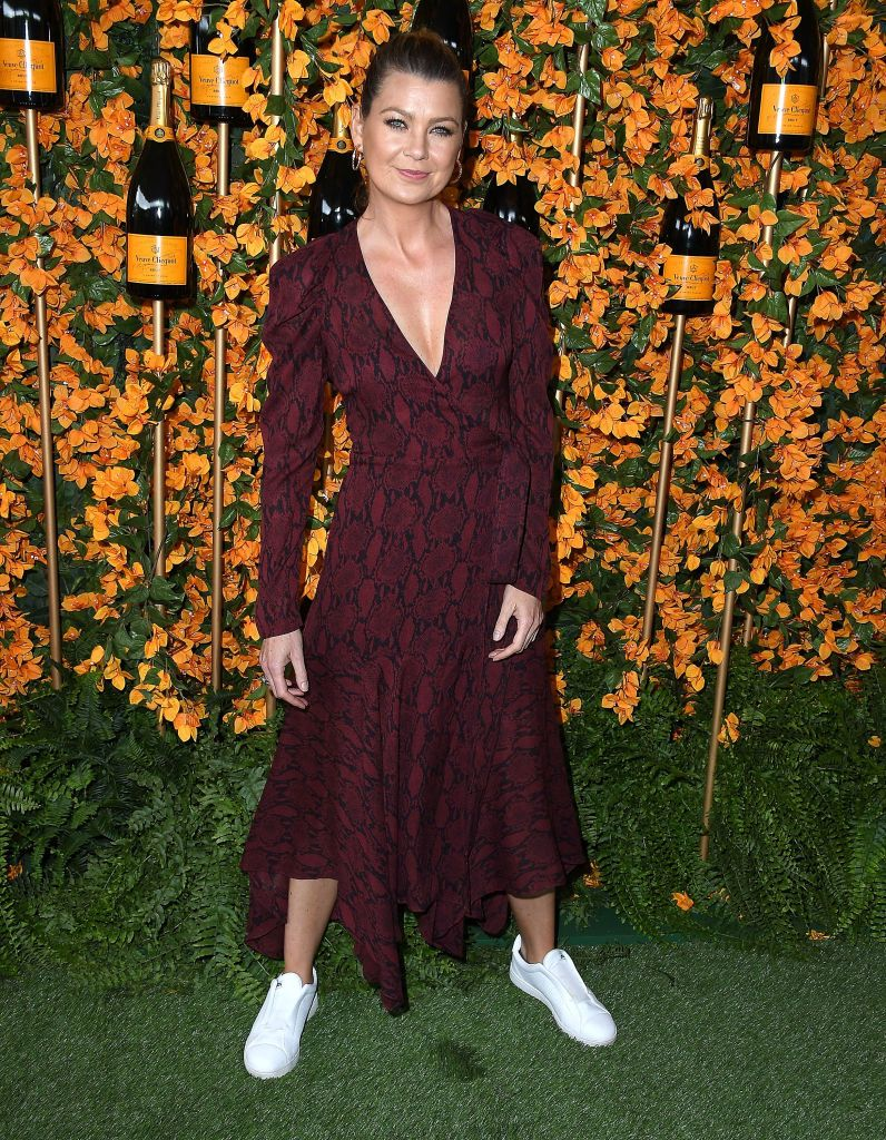 Ellen Pompeo Arrives At The 9th Annual Veuve Clicquot Polo Classic Ellen Pompeo Greys Anatomy Derek Greys Anatomy