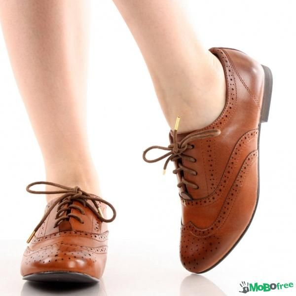 Oxford88 Women Wingtip Lace up Brogues Flat Shoes  Shoes