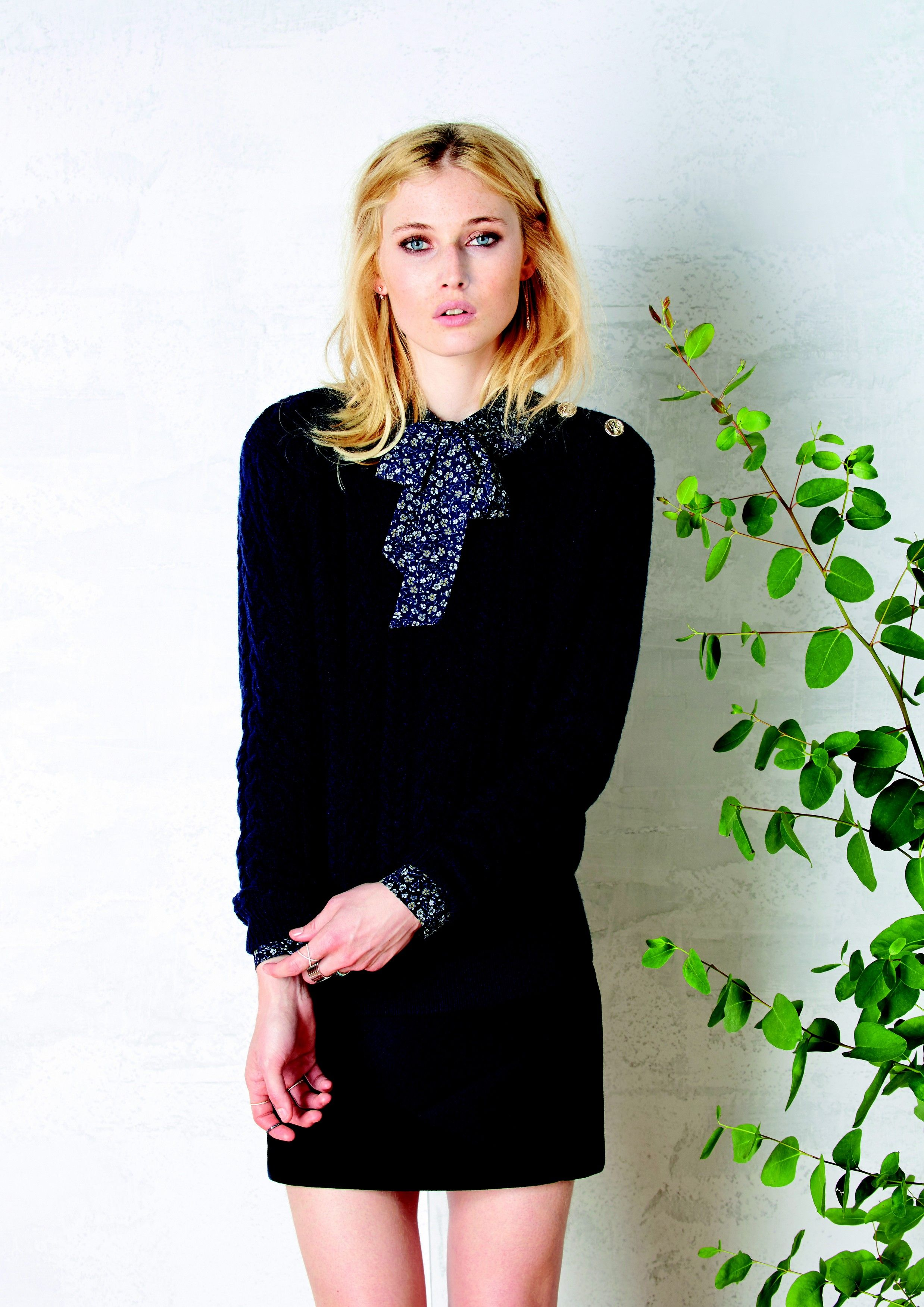 Pull Liz, Blouse Malory, Jupe Milly #lavalliere